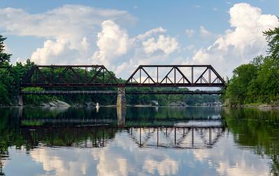 Black Bridge over the Androscoggin River, Topsham & Brunswick, Maine (40136)