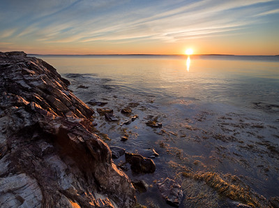 Rocky Shore Sunrise, Camden, Maine (43873-43875)