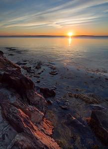 Sunrise, West Penobscot Bay, Camden, Maine (43869-43871)