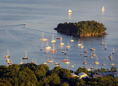 Camden Harbor in Early September, Camden, Maine (33786)