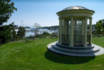 Park and Cupola, Camden Public Library, Camden, Maine (10163)