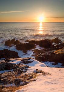 Winter Sunrise, Ogunquit, Maine (20918-20921)