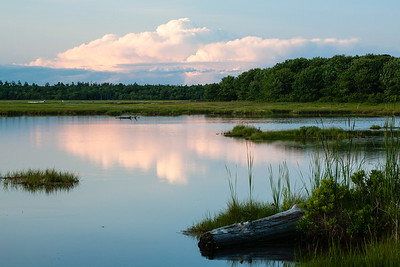 Summer Clouds over Rachel Carson National Wildlife Refuge, Wells, Maine  (0545)