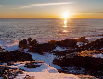 Winter Sunrise on the Maine Coast  -20913-20915