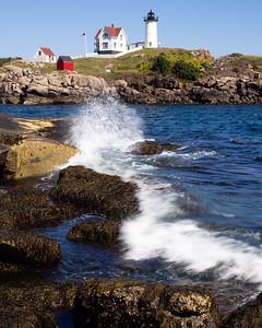 Crashing Wave at Nubble Light, York, Maine  (67950)
