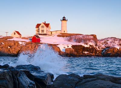The Nubble in Winter, Cape Neddick, Maine (21022)