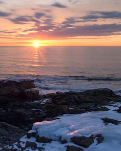 Icy Shoreline at Sunrise, Ogunquit, Maine (31127)