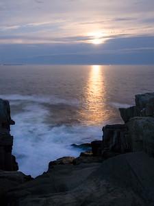Rising Supermoon, Bailey Island, Harpswell, Maine  (26302)