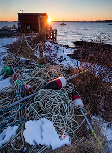 Winter Sunset, South Harpswell, Maine  (3061197)