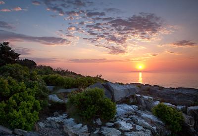 Summer Sunrise, Bailey Island, Harpswell, Maine (6503-6505)