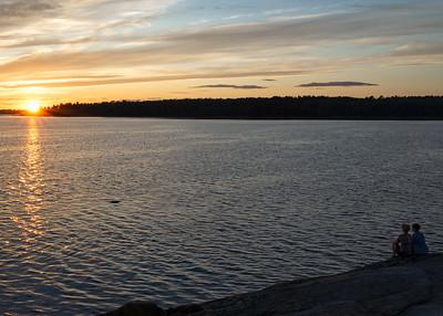 Sunset Couple, Harpswell, Maine  (00653)