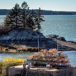 Winter Scene, Lookout Point, Harpswell, Maine (87288)
