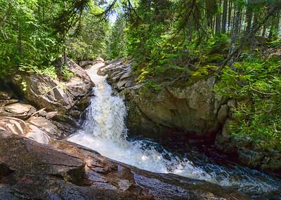 Cascade Stream Roaring through the Gorge, Rangeley, Maine (63340)