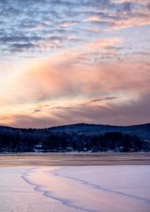 Frozen Lake Sunset, Wilton, Maine (78096-78097)