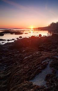 Sunrise on Spruce Head Island, South Thomaston, Maine (7781-7787)