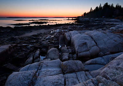 Maine Coast Dawn (7720-7724)