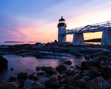 Marshall Point Light at Dusk, Port Clyde, Maine (87441)