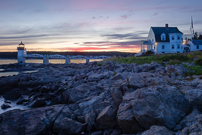 Twilight at Marshall Point Light, Port Clyde, Maine (87457-87459)