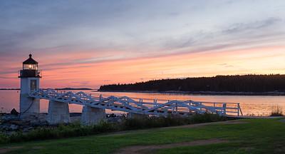 Summer Sunset, Marshall Point Light, Port Clyde, Maine (87444)