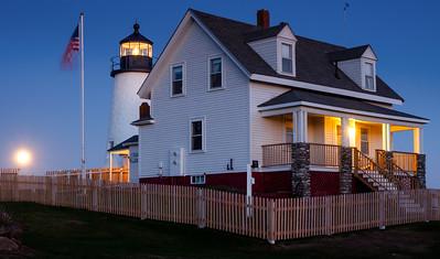Moonrise at Pemaquid Lighthouse, Bristol, Maine  (150858)