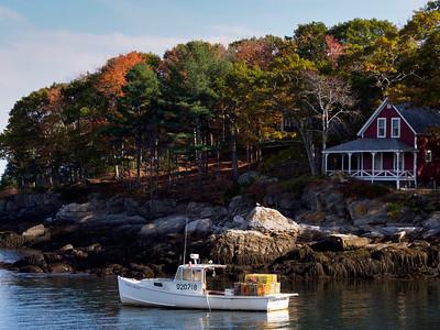 Autumn Afternoon, New Harbor, Bristol, Maine  (150614)