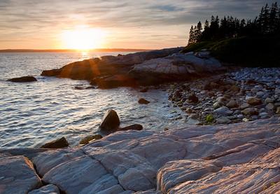 Sunset, Pemaquid Point Facing West, Bristol, Maine (3082)