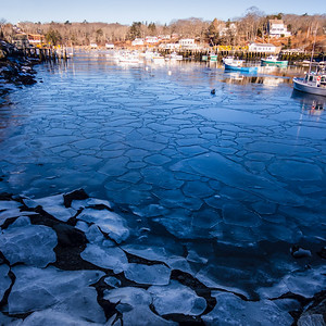 Floating Ice, New Harbor (Bristol), Maine  (81445)