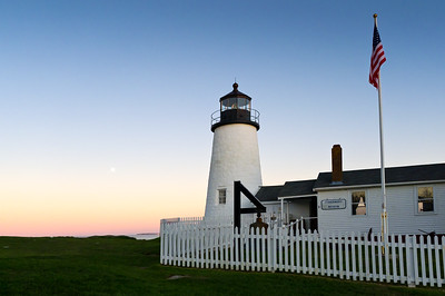 Lighthouse Keeper's House at Dusk, Pemaquid Point, New Harbor, Maine (10418)