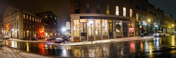 Winter Night, Fore Street, Portland, Maine (18933-943)