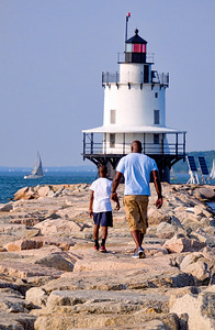Father and Son, South Portland, Maine  (86628)
