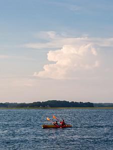 Kayakers, Nonesuch River, Scarborough, Maine  (70187)