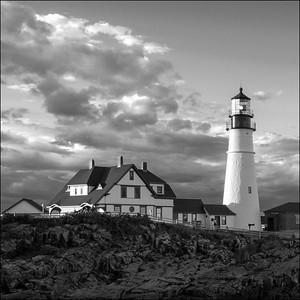 Late Afternoon Clouds, Portland Head Light, Cape Elizabeth, Maine (98461-SQ)
