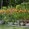 "Mixed annuals border with day lilies in top row, Phippsburg, Maine, Small Point garden, designed, installed and maintained by me For more garden flowers of Maine visit <a href=""http://www.robinrobinsonmaine.com/MaineBOTANICALSwildflowers/BOTANICALS/13997293_xThqdt"">http://www.robinrobinsonmaine.com/MaineBOTANICALSwildflowers/BOTANICALS/13997293_xThqdt</a>"