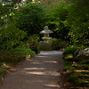 Asticou Gardens, Northeast Harbor, Mount Desert Island, Maine. Moss lined walkway