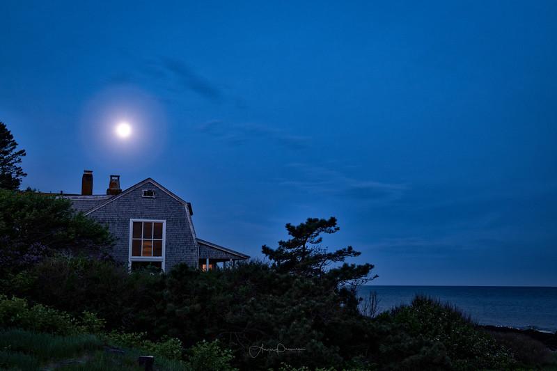 Moon over Monhegan