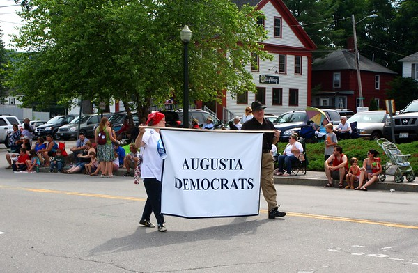12.07.04 Augusta Democratic Committee marches in 4th of July Parade