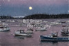 Moon Rising Over Stonington