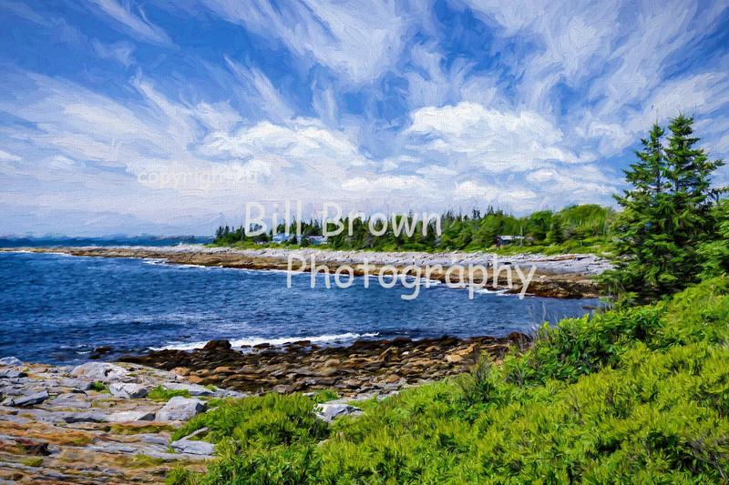 Coastline near Pemaquid Point