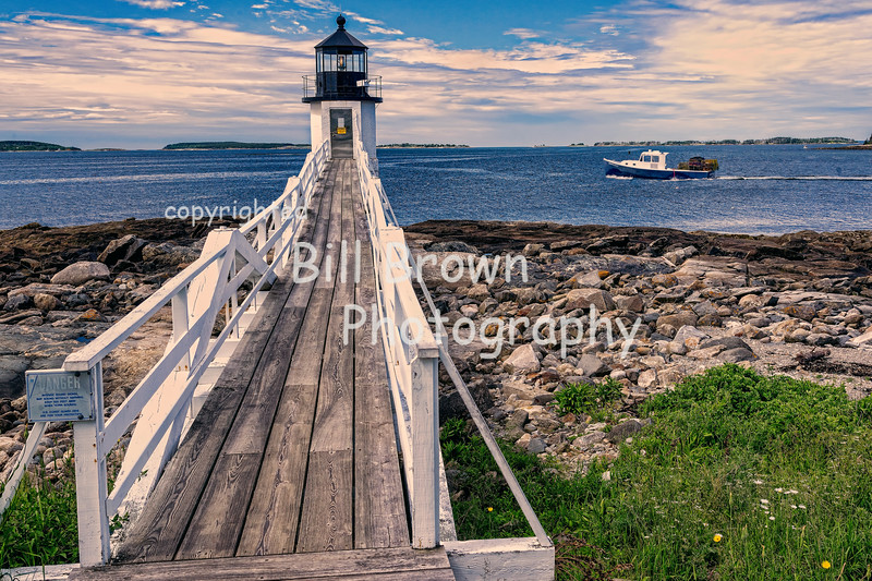 Boat Passing Marshall Point Light