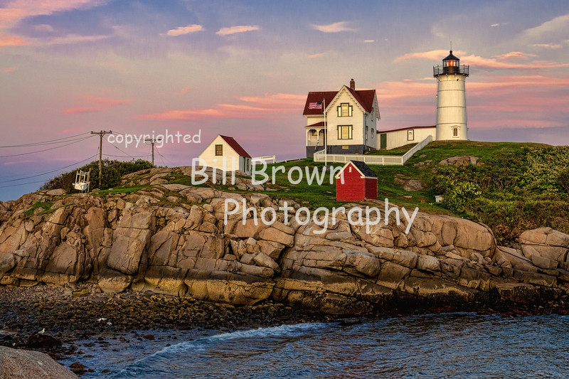 Nubble Light at sunset, ME