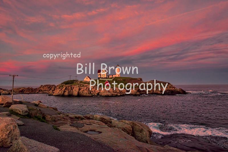 "Cape Neddick ""Nubble"" Light at Sunset"