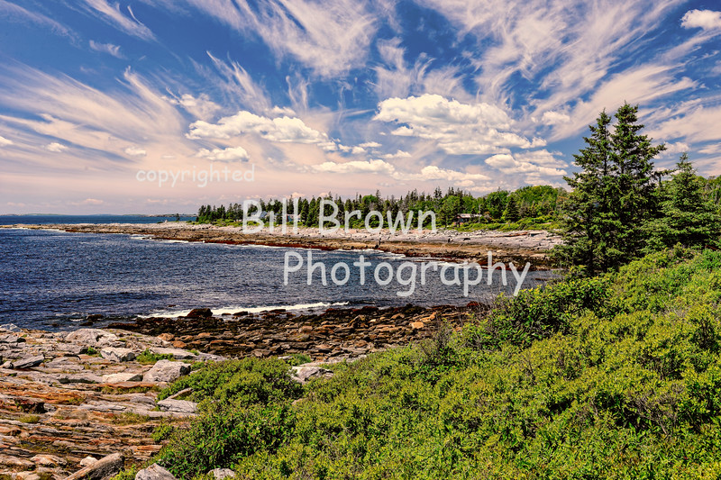 Clouds Over Coastline Near Pemaquid Point, ME