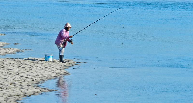 Pink on Blue, Mousam River, Kennebunk ME