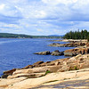 Shoreline of Schoodic Section of Acadia National Park - Winter Harbor in the distance.