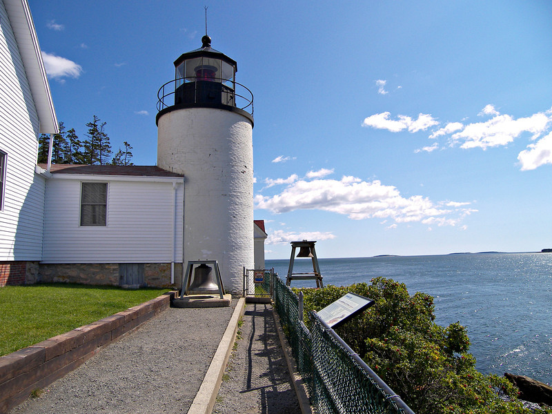 Bass Harbor Light has always been maintained by a single keeper and his family.