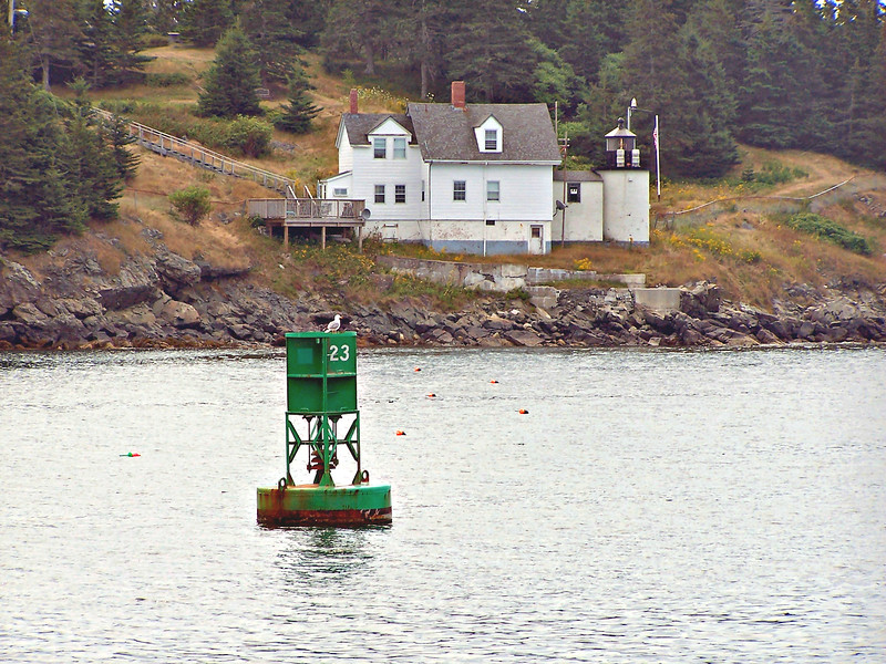 In March 1831 Congress appropriated $4,000 towards the construction of a lighthouse station on the northwest corner of Vinalhaven island in an area known as Browns Head.  A 22 foot rubblestone tower with an octagonal iron lantern and a keepers dwelling were completed by local mason Jeremiah Berry of East Thomaston.