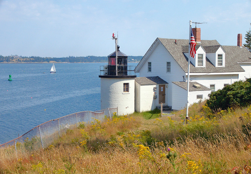 The Browns Head Light can be visited by taking the year-round 13 mile ferry from Rockland and traveling six miles from the ferry dock to the station.  The grounds are open, but the Town Managers home is closed to the public.