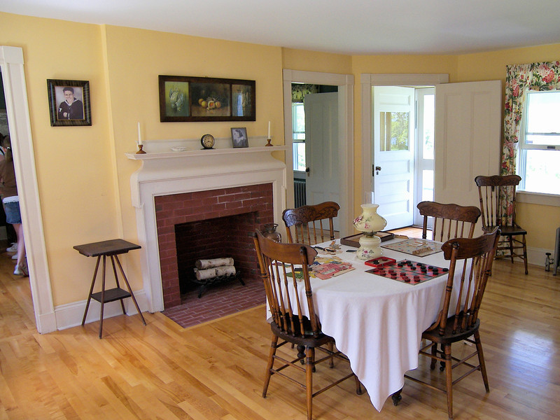 **Interior of the Keepers House** In 1998 ownership of the light station was transferred from the Coast Guard to the Maine Department of Marine Resources (DMR) under the Maine Lights Program.  The lighthouse was restored under the supervision of Elaine Jones who became the Director of the station under the DMR.