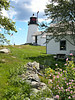 The lighthouse went into service in November 1821 exhibiting a fixed white light 61 feet above sea level.  The first lighthouse keeper was a man named 'Marr' who served until 1830.  I wonder if he may have been related to the Marr's who tended the nearby Hendricks Head Light in later years.