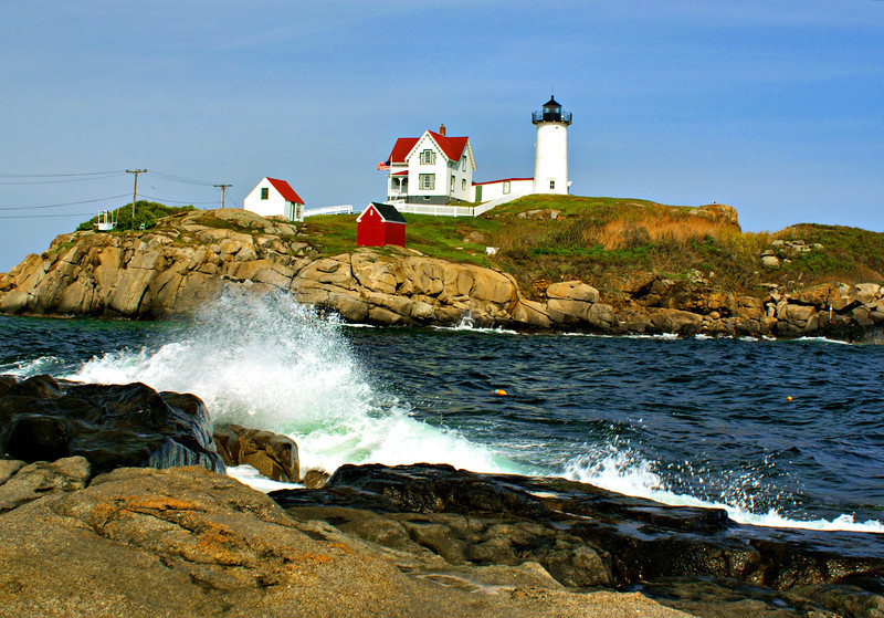 The Nubble is the name of a small rocky islet located just off Cape Neddick in southern Maine.  Located two miles north of the York River near offshore ledges, mariners requested a light at this site in the early 1800's.